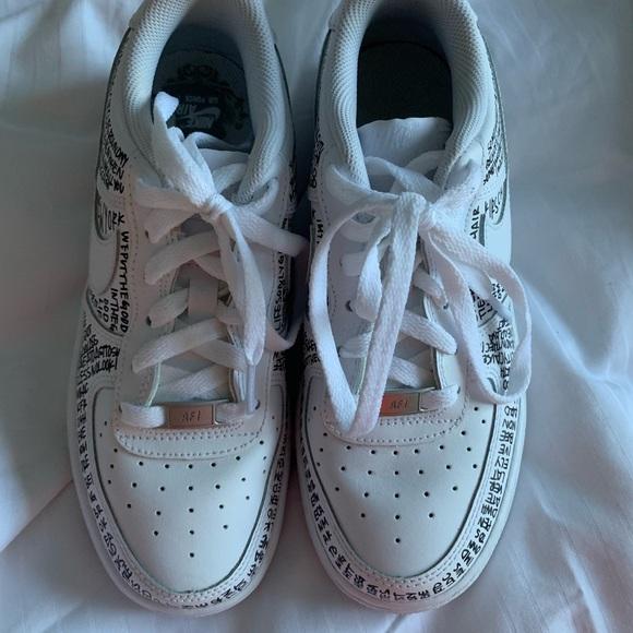 Nike Shoes - Custom Leah Kirsch lyrical AF1 Low White